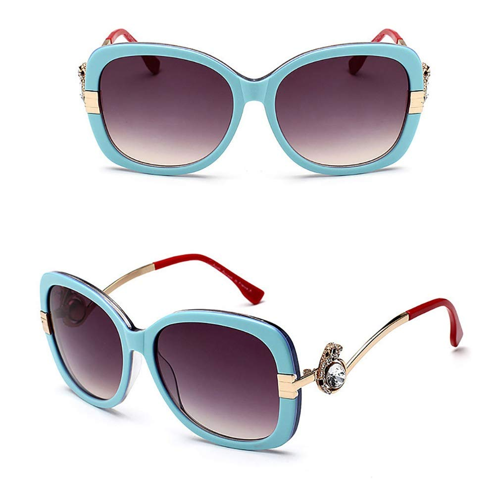 bluee red Saalising Ladies Fashion Polarized Sunglasses, Classic Vintage Design Style (color   bluee red)