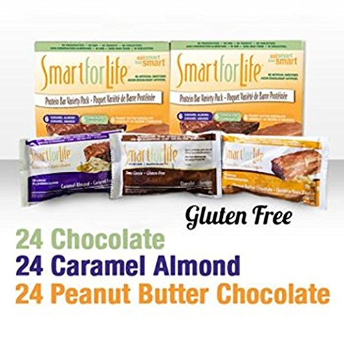 Smart For Life High Protein Bars, Chocolate, Peanut Butter Chocolate and Caramel Almond Protein Bars,72 Pieces by Smart for Life (Image #3)