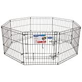 Petmate Exercise Pen W/Door Snap-Hook Design Included Ground Stakes 5 Different Heights For Sale