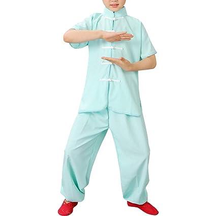Daytwork Disfraces Chinos Tradicional Marciales - Niño Conjuntos Estudiante Niños Tai Chi Wushu Rendimiento Uniformes Kung Fu Chicas Ejercicio Trajes ...