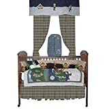 Wolf crib bedding set with crib quilt and bumperpad and more accessories from Patch Maic