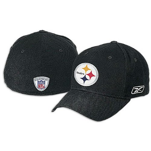 150a301aea9 ... france pittsburgh steelers nfl reebok sideline coaches hat cap black flex  fitted 7 1 8 4acf1 ...