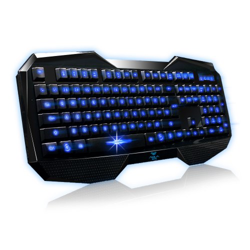 AULA Blue Expert Gaming PC Multimedia Keyboard Mouse Mice