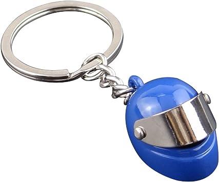 Doitsa 1pcs Llavero Casco de Moto 3D Keychain Original Accesorios decoraci/ón para Crear Plata