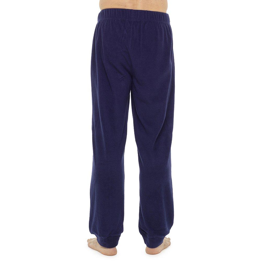 Tom Franks Mens Plain Marl Cuffed Fleece Lounge Pyjama Pants