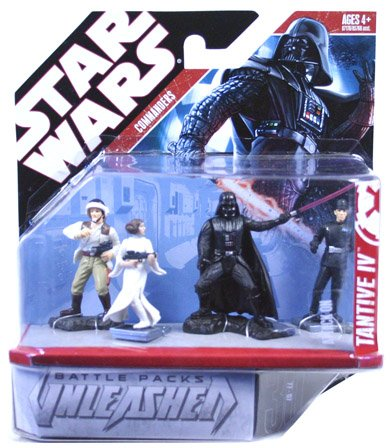 Hasbro Star Wars Unleashed Battle 4 Pack Episode 4 Commanders