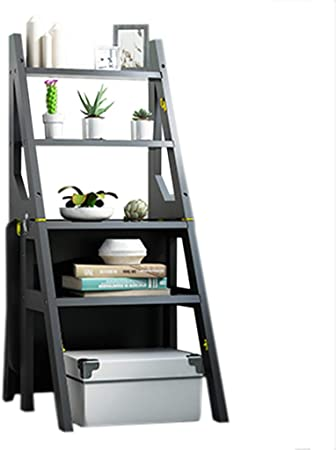 Taburete Bambú Taburete Plegable Adulto casa Cocina Escalada Multifuncional Uso Dual Muebles de Escalera portátil Simple (Color: Negro, Tamaño: 46 × 40 × 90cm): Amazon.es: Hogar