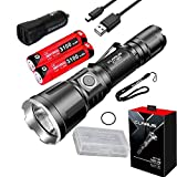 Klarus XT11GT Upgraded Version XT11X 3200 Lumens CREE XHP70.2 P2 LED Rechargeable Tactical Powerful Flashligh with 2 x 18650 Battery,Holster,car Charger,battety case