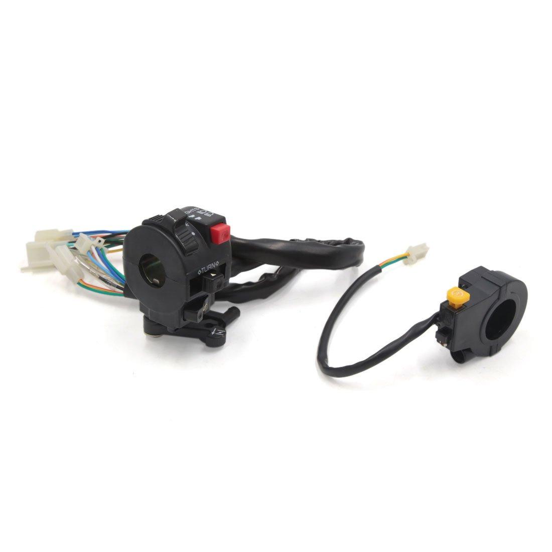 uxcell 2 Pcs Motorcycle Handlebar Turn Signal Light Button Headlight Switch for Honda