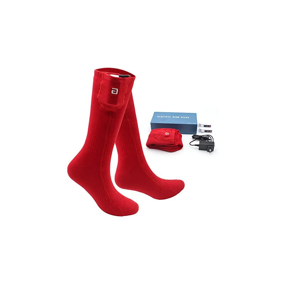 Danitymuse Warm Winter Rechargeable Electric Heated Socks Kits for Cold Weather
