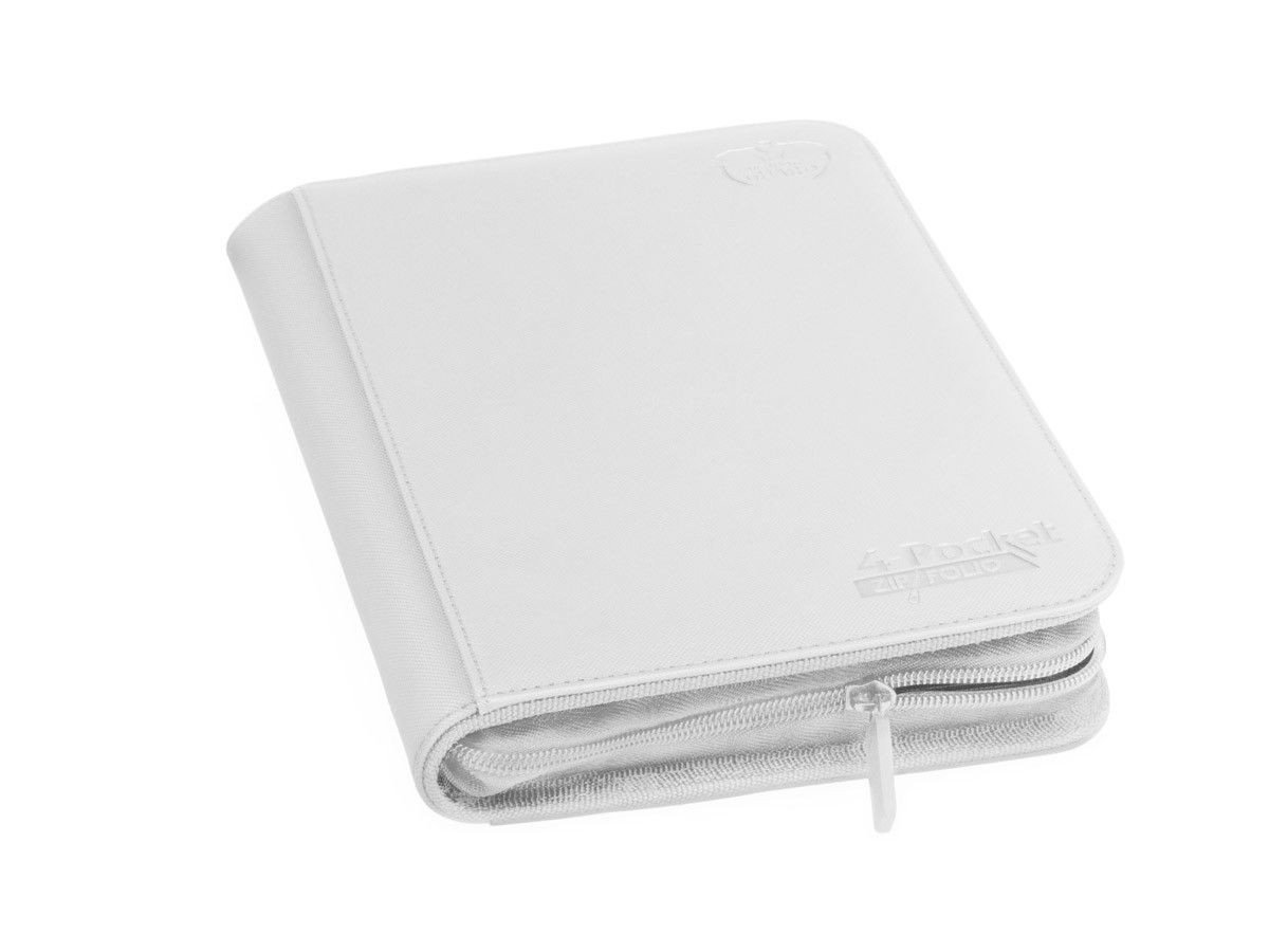 Ultimate Guard 4 Pocket Zipfolio Xenoskin Deck Case, White