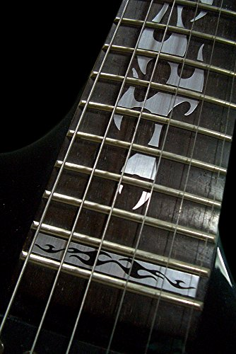 Fretboard Markers Inlay Sticker Decals for Guitar - Fire Flames - Metallic by Inlaystickers (Image #3)