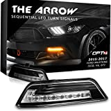 Arrow Sequential Mustang LED Turn Signals w/Switchback DRL for 15-17 Ford Mustang - White Amber Light Left Right Pair