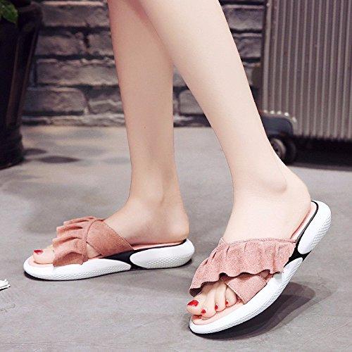 croce Rosa XIAOGEGE raffreddare spessa Scarpe donna terrazza la asolati sandali e a e indossare qqtOB
