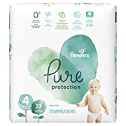 Pampers Pure Protection Disposable Baby Diapers, Size 4, 23 Count