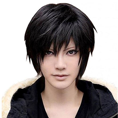 Mermaid Men's Hair Wig- Male Fashion Cool Wigs for Cosplay Costume Anime Show & Party & Performance (Black) (Cool Anime Costumes)