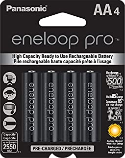 Panasonic BK3HCCA4BA Eneloop Pro AA High Capacity New Ni-MH Pre-Charged Rechargeable Batteries, 4-Pack (B00JHKSL28) | Amazon Products