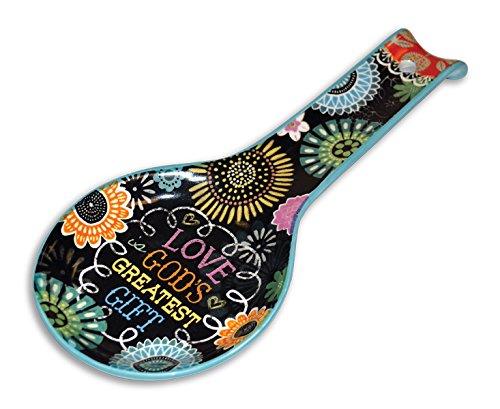 Divinity Boutique 23678 Chalk Bird Ceramic Spoon Rest, Multicolored by Divinity Boutique