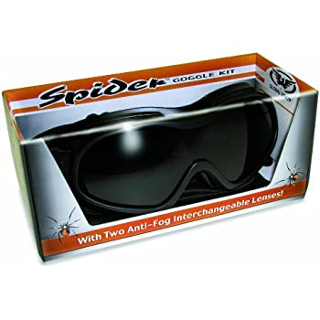 9d3fa0e69352 Over Glasses Motorcycle Goggles - Shatterproof Polycarbonate Goggles with  Interchangeable Smoke and Clear Lenses