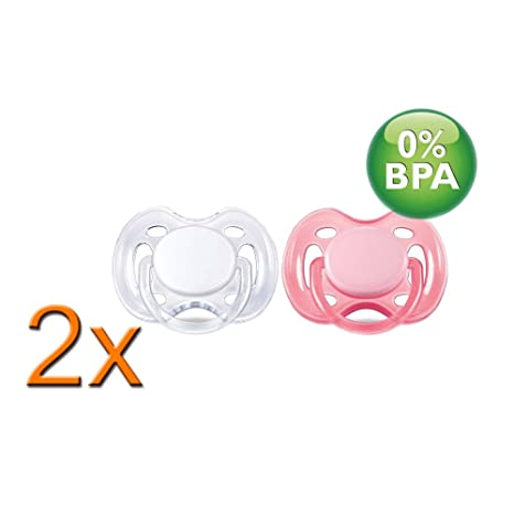 2 x 2 unidades Philips Avent chupetes Classic 0 - 6 m rosa ...
