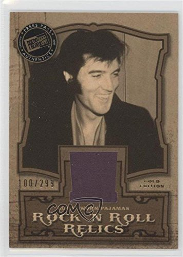 Elvis Presley #100/299 (Trading Card) 2007 Press Pass Elvis the Music - Rock 'n Roll Relics - Gold Edition #RR-PJ