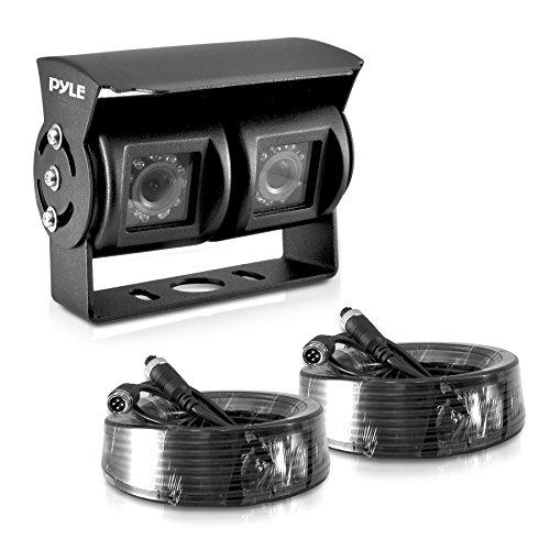 pyle plcmtr26 dual weatherproof rearview backup camera for bus truck trailer and van ir night. Black Bedroom Furniture Sets. Home Design Ideas