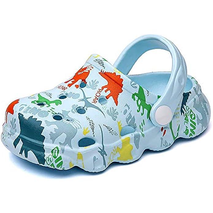 INMMINPIN Kids Cute Clogs Cartoon Garden Shoes Boys Girls Slides Slippers Indoor Outdoor Children Water Shower Beach Pool Sandals