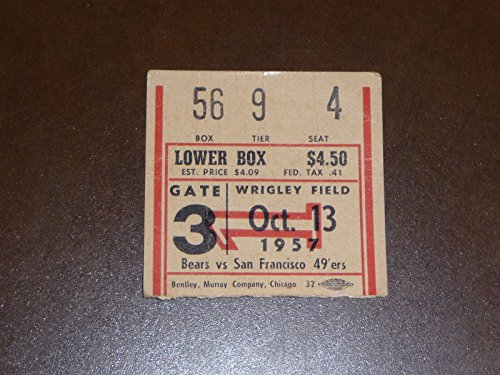 1957 CHICAGO BEARS TICKET STUB VS SAN FRANCISCO 49ERS
