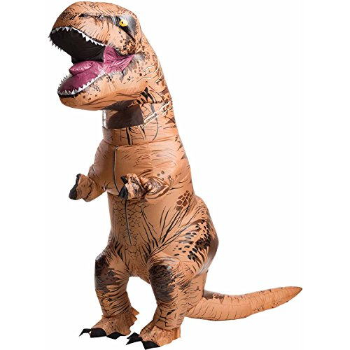[MELIVO Inflatable Dinosaur T-Rex Jumpsuit Adult Blow Up Costume Jurassic Fancy Outfit] (Cartoon Character Simple Costume)