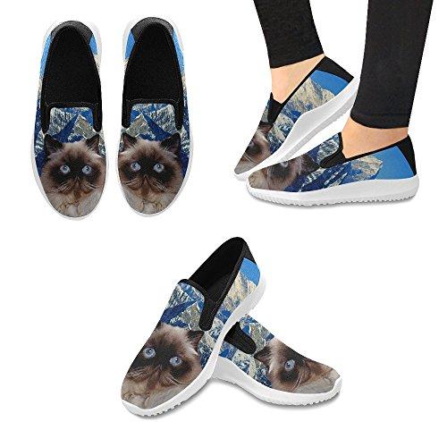 Impronta Canvas Modello Teschio Di Sneakers Fiori Slip On Donna fOqaU6f