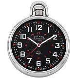 Gotham Men's Stainless Steel Mechanical Hand Wind Railroad Style Pocket Watch # GWC14106SB