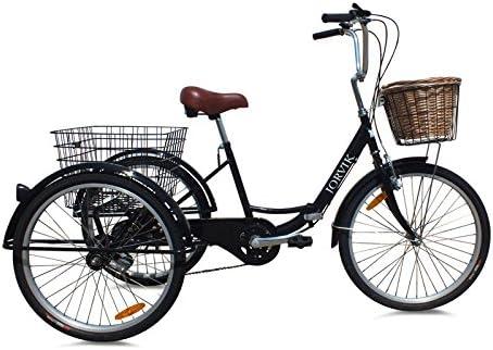 Triciclo plegable para adultos Jorvik de ciudad, estilo holandés, 60,96cm