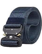 Desconocido Liquidación JIER Cinturón Táctico con Hebilla Cobra de Liberación Rápida, Cinturón de Nylon para Hombres Hebilla de Metal Estilo Militar Servicio Pesado