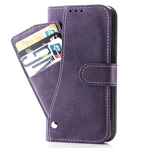 Note 4 Case,Phone Cases Wallet Leather with Credit Card Holder Slim Kickstand Stand Flip Folio Protective Cover for Samsung Galaxy Note 4 Note4 Women Girls Men Purple