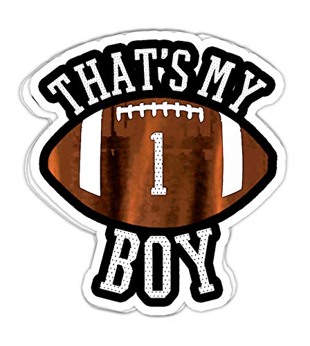 Maximili Thats My Boy #1 Football Number One Jersey Football Mom Dad- 4x3 Vinyl Stickers, Laptop Decal, Water Bottle Sticker (Set of 3)