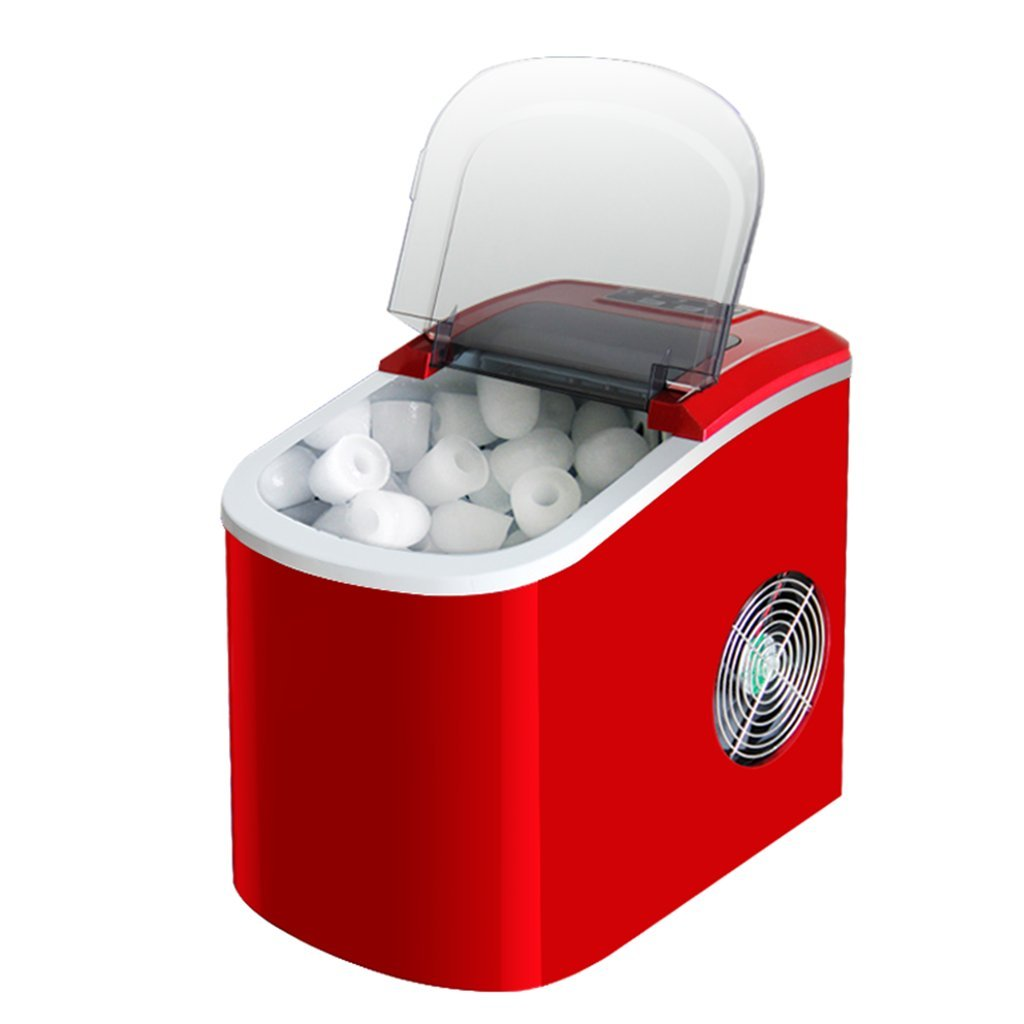YI HOME- Ice Machine Mute Red Smart 8-Minute Fast Ice Machine Small Automatic Consumer And Commercial Large-Capacity 2.2L Water Tank,Red
