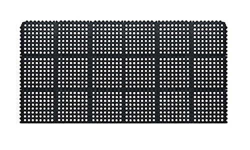 J&D SDM3660 Continuous Interlock Anti-Fatigue Mat System, 3' x 5', 5/8