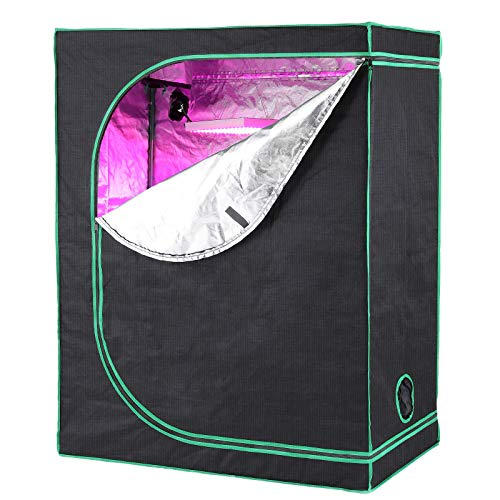 LUDOSPORT Indoor Plant Grow Tent, Reflective Thick Mylar Fabric Growing Room Box for Gardening Plants Veg and Flower W…