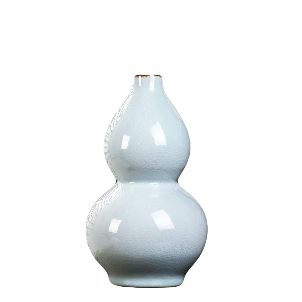 MAHONGQING 花瓶セラミック花瓶亀裂中国風フラワーアレンジメント磁器ボトルワインキャビネット工芸家の装飾 (Size : M) B07S2RFC4L  Medium
