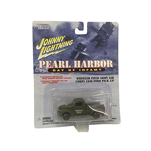 Johnny Lightning Pearl Harbor Day of Infamy Wheeler Field Army Air Corps 1940 Ford Pick-Up Car Replica