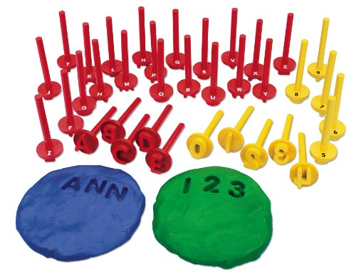 Lakeshore Uppercase Alphabet & Number Dough Stampers