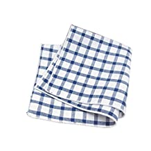 Sitong men's suit cotton plaid printed handkerchief pocket square
