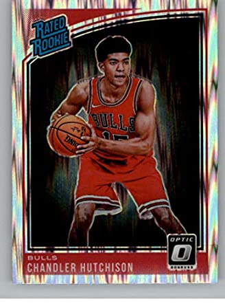 90ad2d1dcfc3 2018-19 Donruss Optic Shock Basketball  166 Chandler Hutchison Chicago Bulls  Rated Rookie Official