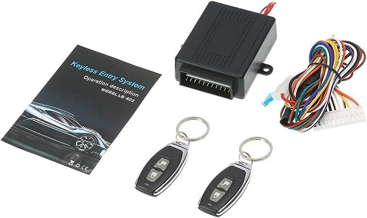 Kkmoon Auto Keyless Open Tür Schloss System Car Zentralverriegelungen Universal Verriegelung Fernbedienung Zentralisiert Mit 2 Klappschlüssel Auto