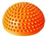 Foot Massage High Density Yoga Spiky Ball Half Round [Orange]