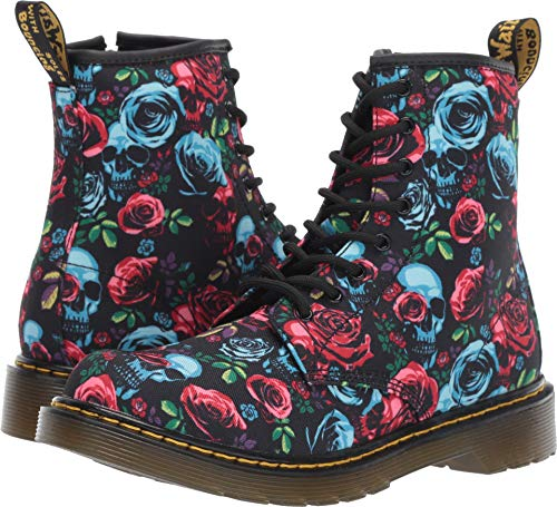 Dr. Martens Kid's Collection Girl's 1460 Rose Fantasy Boot (Big Kid) Rose Fantasy K T Canvas 4 M UK