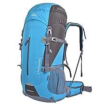 Oxking 50 Liter Outdoor Hiking Trekking Camping Backpack Waterproof Mountaineering Bag Travel Climbing Rucksack Daypacks