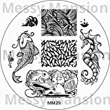 MESSY MANSION MM29 Nail Art Stamping Plate - Water World theme