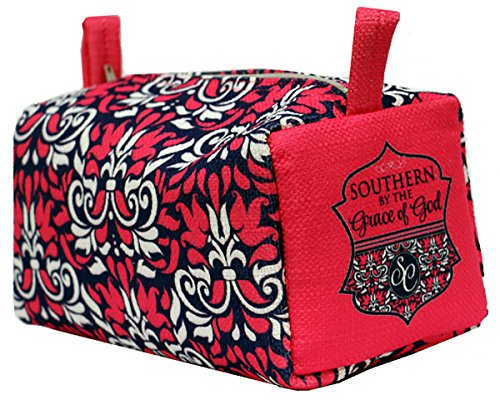 Southern Couture Southern By Grace of God Safety Pink Damask Cosmetic Pouch (Show Christmas Southern Reviews)