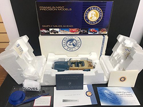 1948 Chrysler Town and Country Franklin Mint 1/24 Limited Edition 1209/2500 (Franklin Cars Mint Collectible)